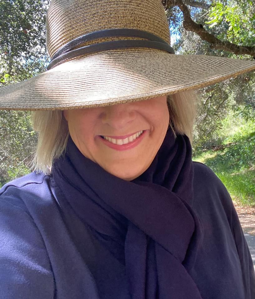 Jill Thayer in hat